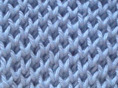 Cómo Tejer Punto Cruzado en Colores-Cross Stitch 2 Agujas (275 ...