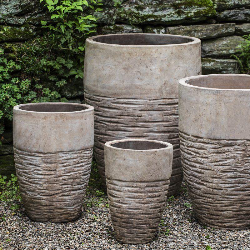Hyphen 4 Piece Terracotta Pot Planter Set Planters Terracotta Planter Terracotta Pots