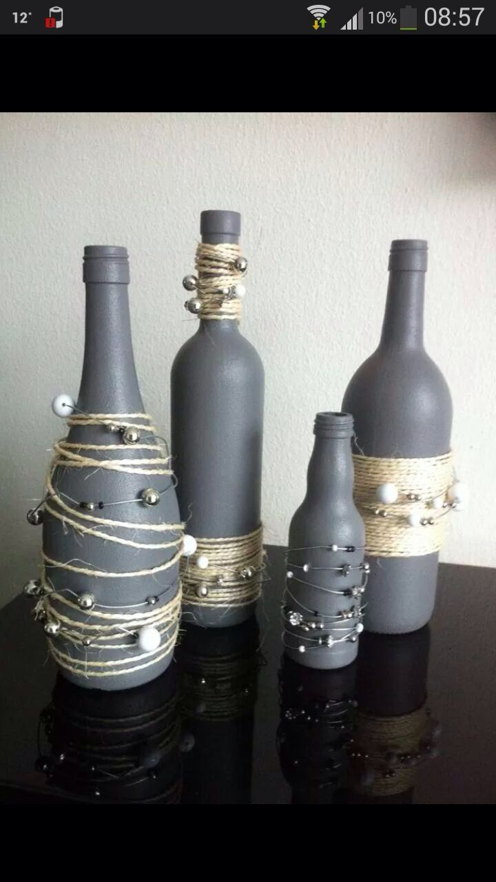 Garrafas pinteres for Wine bottle glasses diy