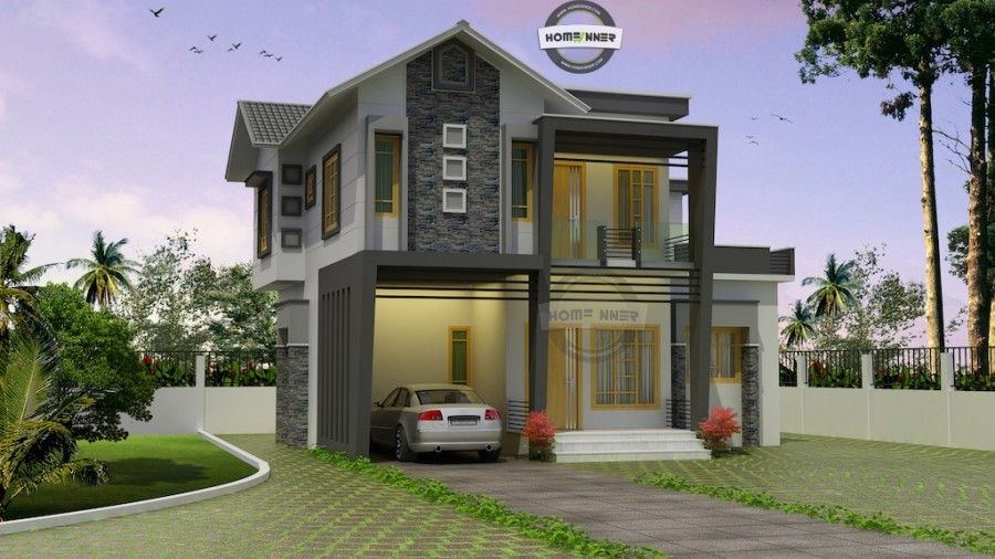 1698 Sq Ft 3 Bedroom Fusion Style Photos Of Kerala Houses