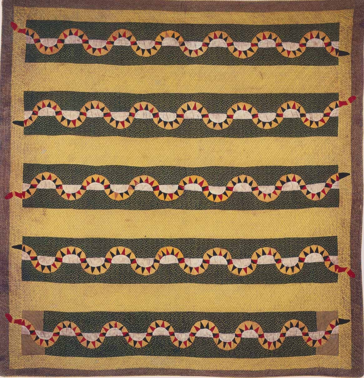 Snake Quilt C 1885 North Carolina Vintage Quilts