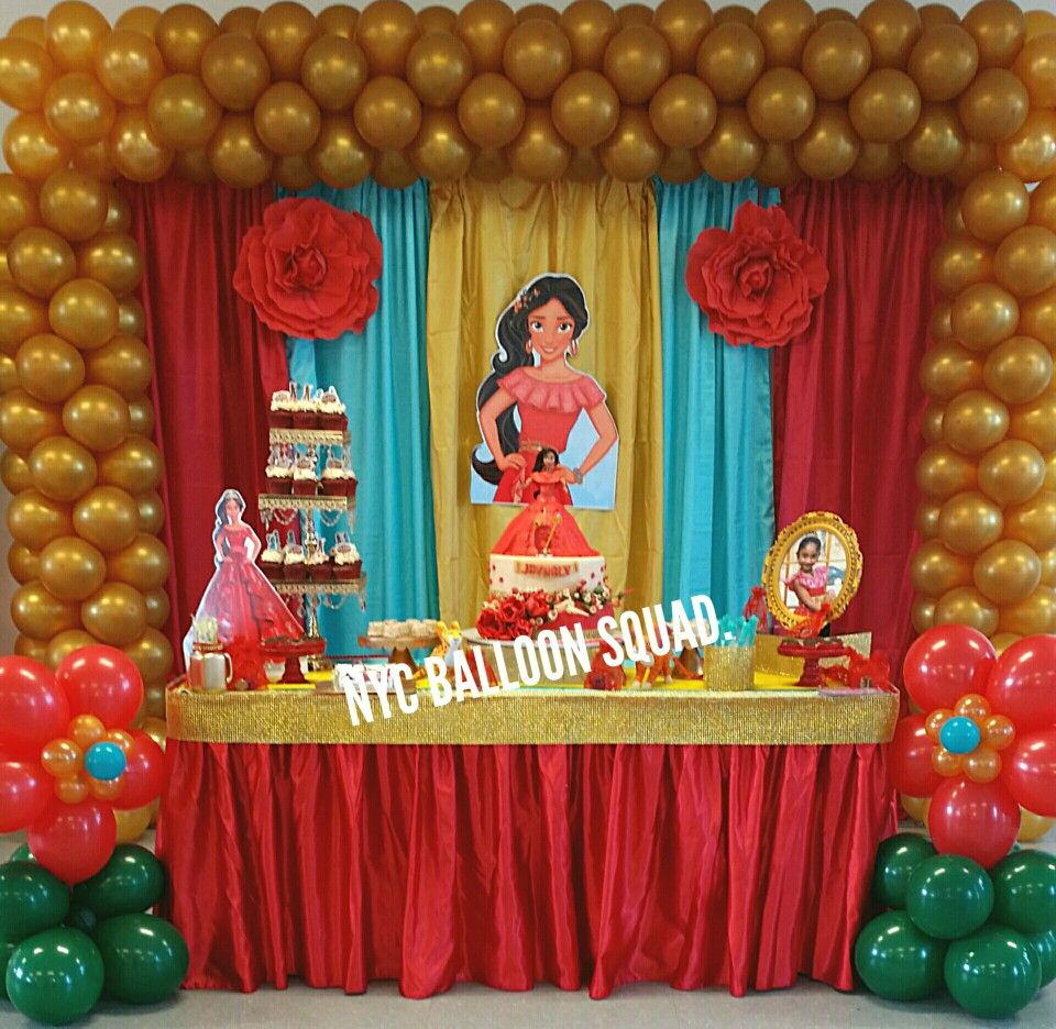 Princess Elena Of Avalor Birthday Baby Shower Party Disney Backdrop Balloon Design