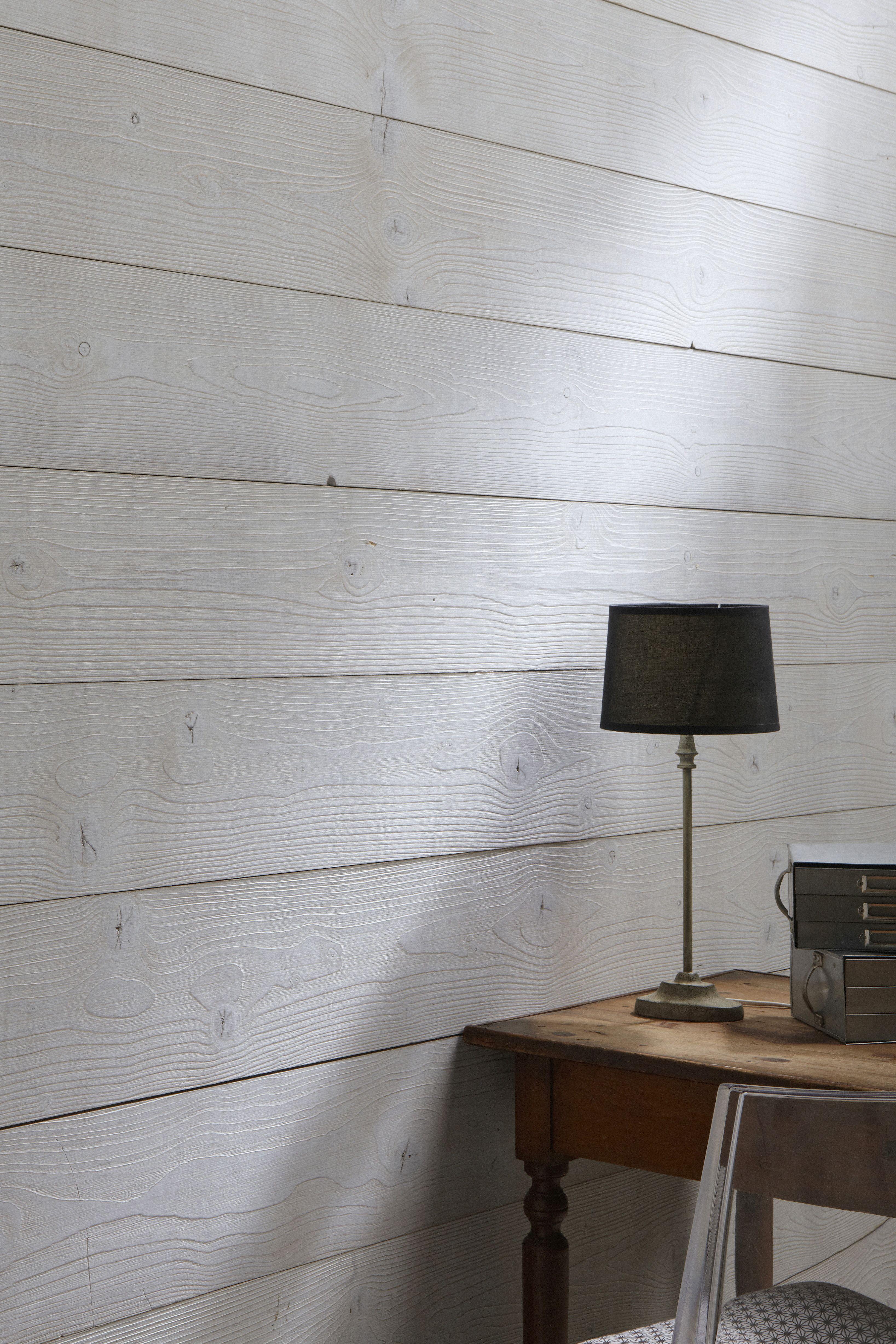 lambris bois teint gris aspect bois bross salle de bain sous sol pinterest salons