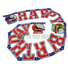 thomas friends train tank engine party happy birthday letter flag banner t1190