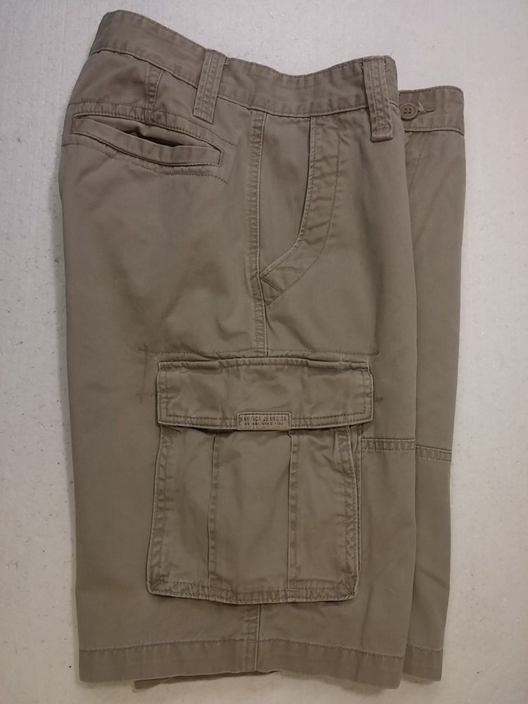 various styles best selling hot sale For Sale Nautica Jeans Co Beige Cargo Shorts Mens 32 Zipper ...