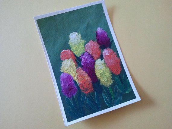 Hyacinths  Postcard painted with hyacinth bulbs by TheYellowbrush, $5.00