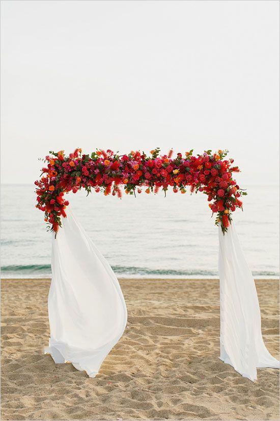 Colorful Beach Wedding In Greece Mariage En Grece Mariage Arc