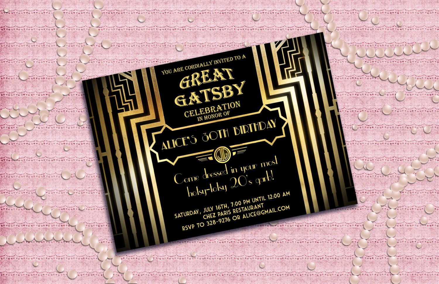 great gatsby invitation diy ideas Google Search Great Gatsby