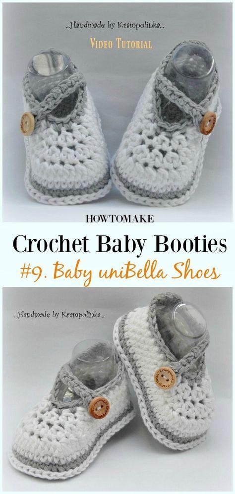 Baby Booties Free Crochet Patterns Knitcrochet Pinterest