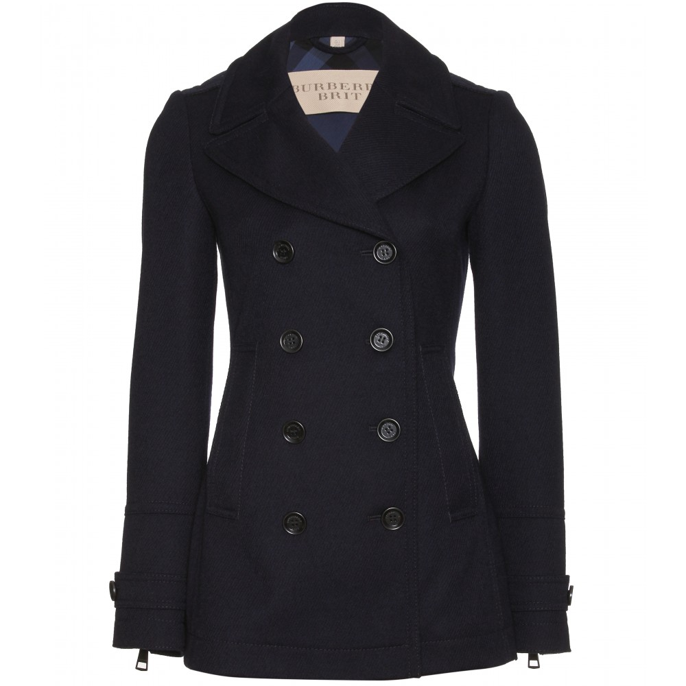 mytheresa.com - Burberry Brit - FENSTEAD PEACOAT - Luxury Fashion ...