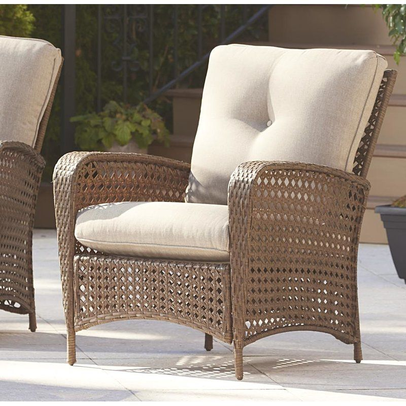 Edwards patio chair with cushions outdoor wicker chairs