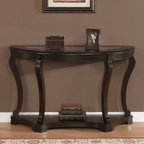 Half Round Moon Console Accent Sofa Table Espresso Brown Finish New Ebay 30 Inches High X 48 Inches Wide X 19 Inches Deep Decoracao Casas
