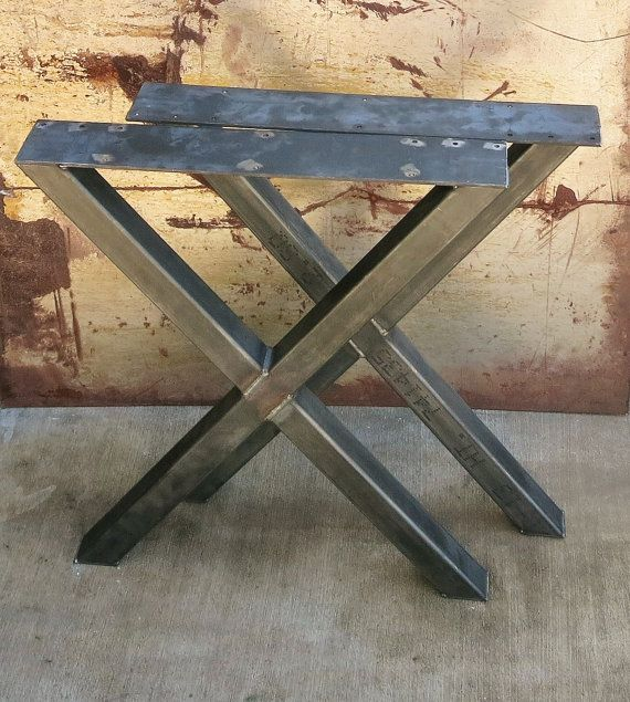 X Shape Thick Industrial Metal Table Legs 2x2 Etsy Metal Table Metal Table Legs Steel Table Legs