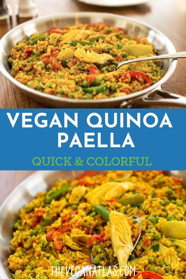 Quick And Colorful Vegan Quinoa Paella