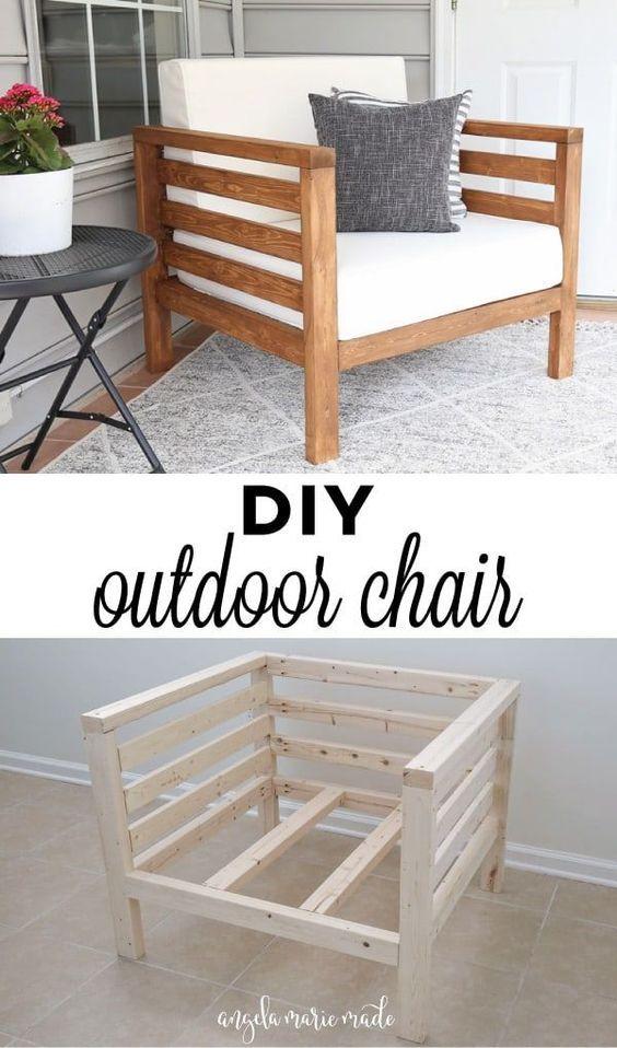 DIY Outdoor Chair  Angela Marie Made #HomeDecor