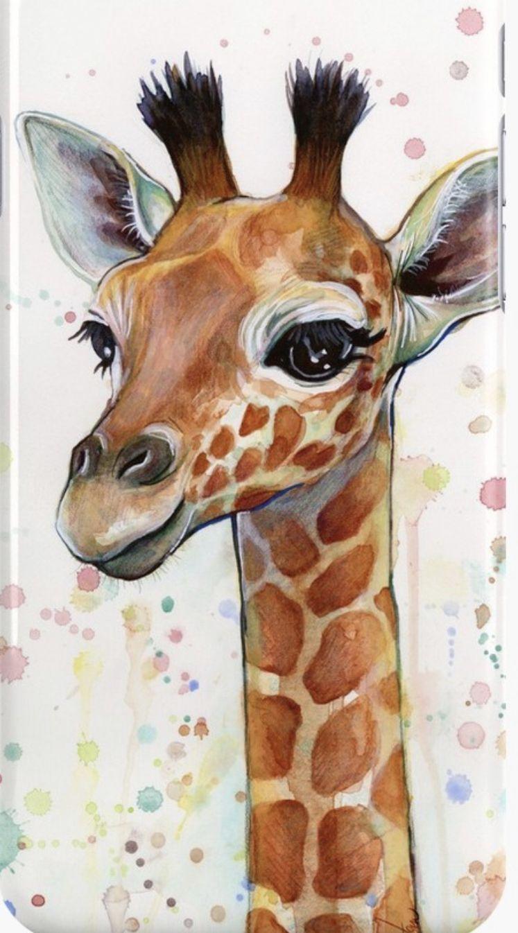 Pin By Jose De Vette On Art Love And Painting Ideas Giraffe Painting Giraffe Art Watercolor Canvas