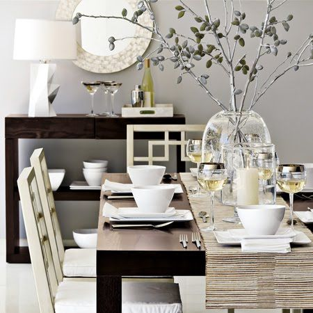 Dining Room Table Setting Like The White Against The