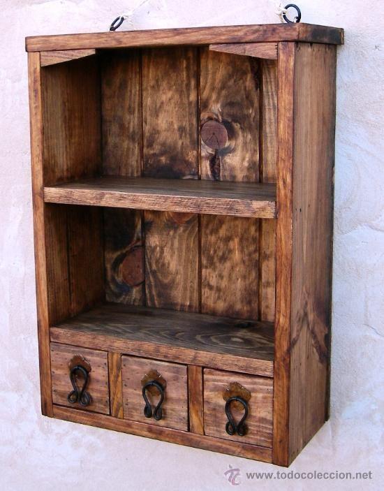 Muebles rusticos de madera buscar con google madera for Muebles con cajones de madera
