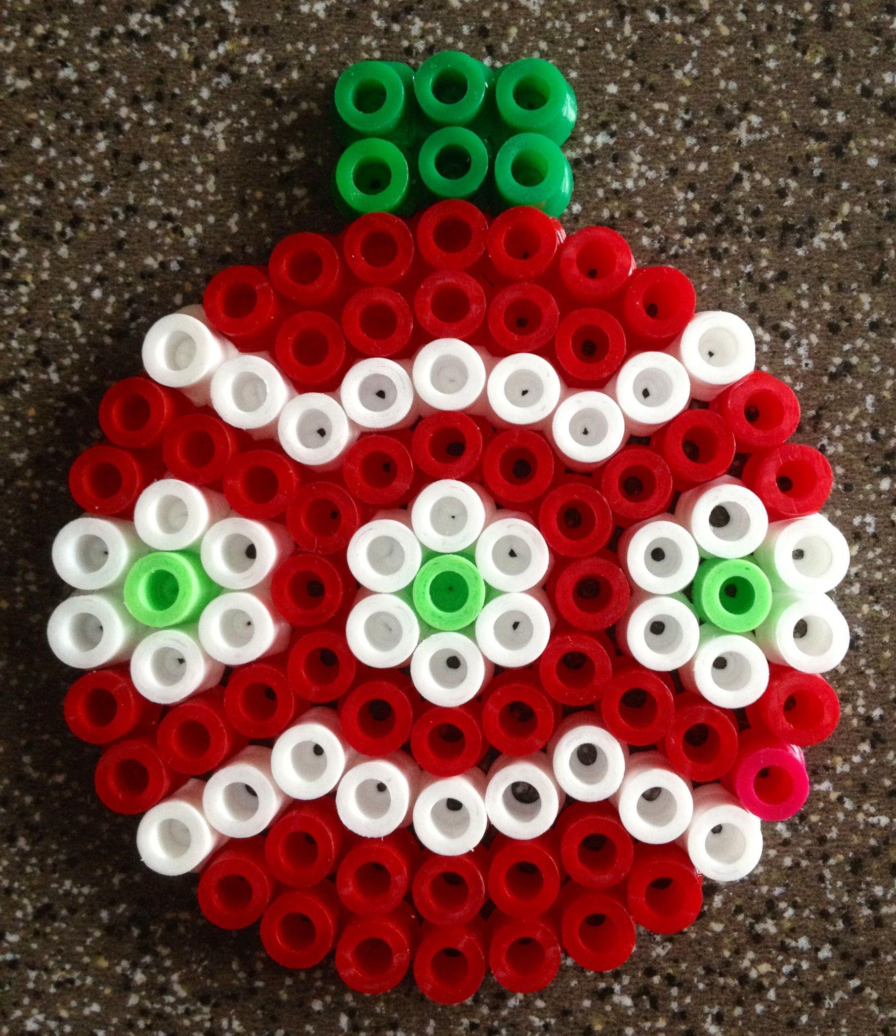 christmas ornament hama perler beads by alice vickan by kasrin - Christmas Perler Bead Patterns