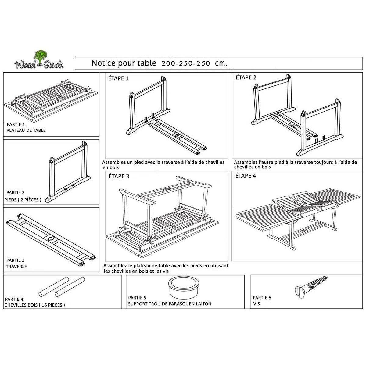 Salon De Jardin En Teck Grande Taille - Table 300 Cm - Taille : 12 ...