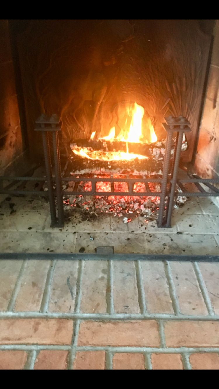fireplace grate made from 1 2 u201d rebar fits the angle of the fire box rh pinterest com