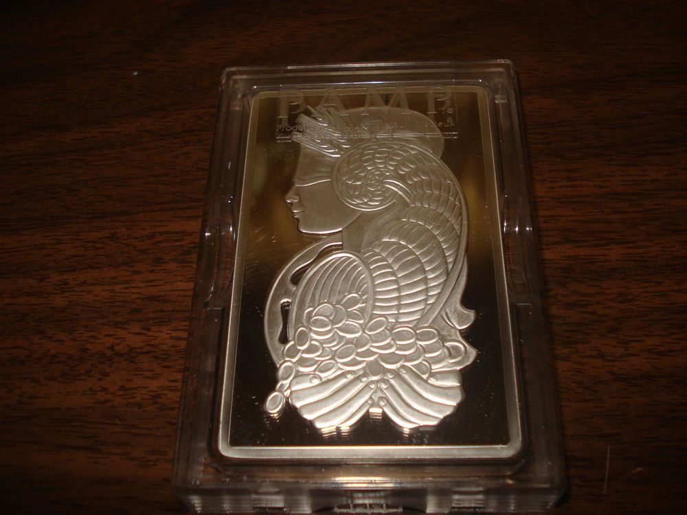 10 Oz Silver Bar Pamp Suisse Fortuna 999 Fine In Plastic Case With Assay Silver Bars Coin Buyers Sell Silver