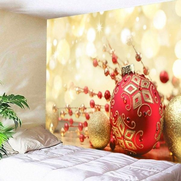 Christmas Balls Printed Wall Decor Tapestry
