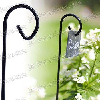 porte tiquette ardoise 150cm x10 jardin garden pinterest tiquette jardin jardins et. Black Bedroom Furniture Sets. Home Design Ideas