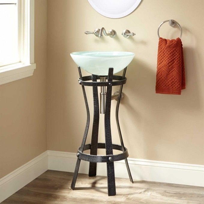 Love The Pedestal Sink For Area Where Toilet Will Be Marius Wrought Iron Stand
