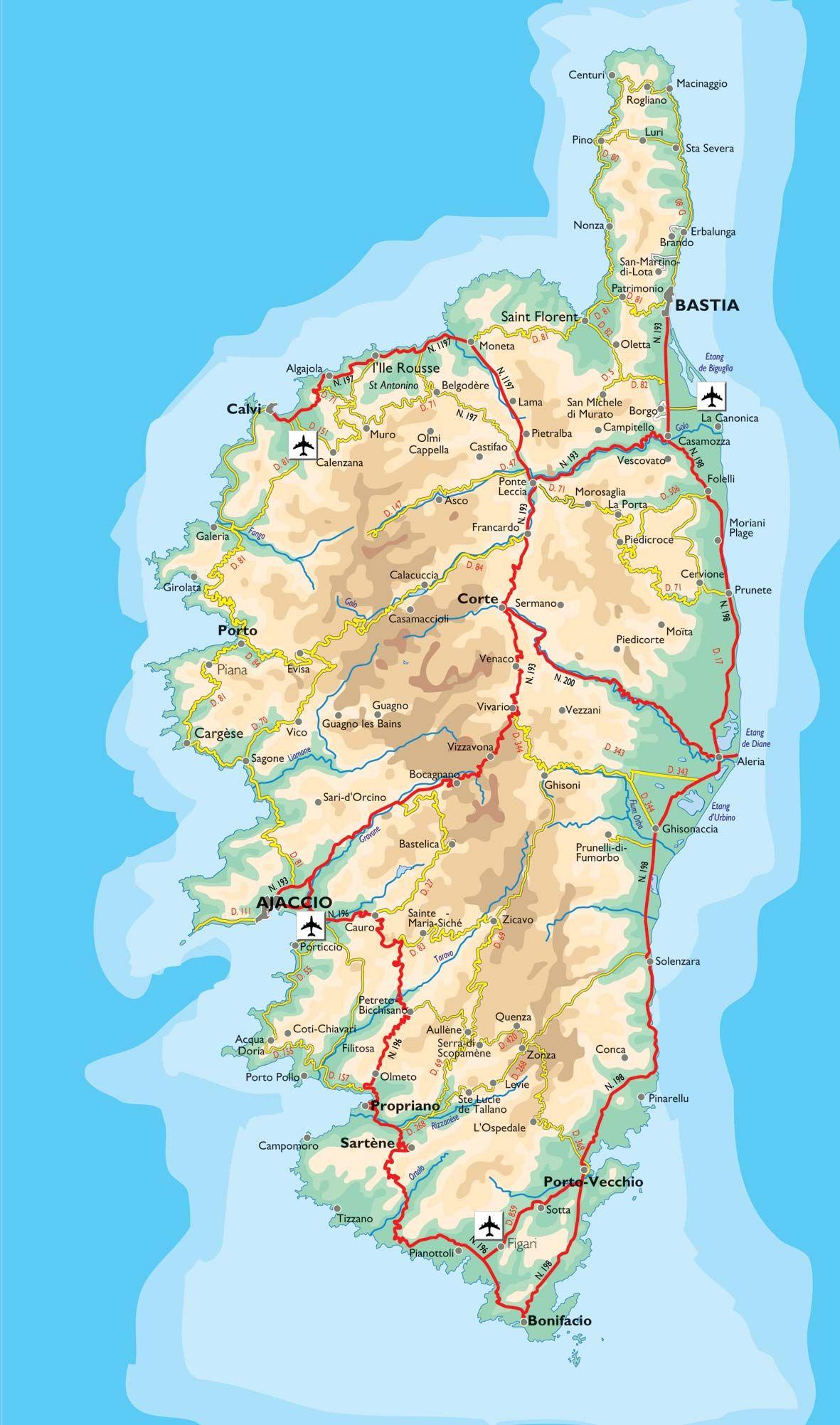 Carte Corse Mediterranee.Resultat De Recherche D Images Pour Carte De La Corse