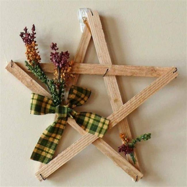 weihnachtsschmuck fr die winterzeit stern aus holz eignet sich als wandschmuck - Weihnachtsdekoration Aus Holz