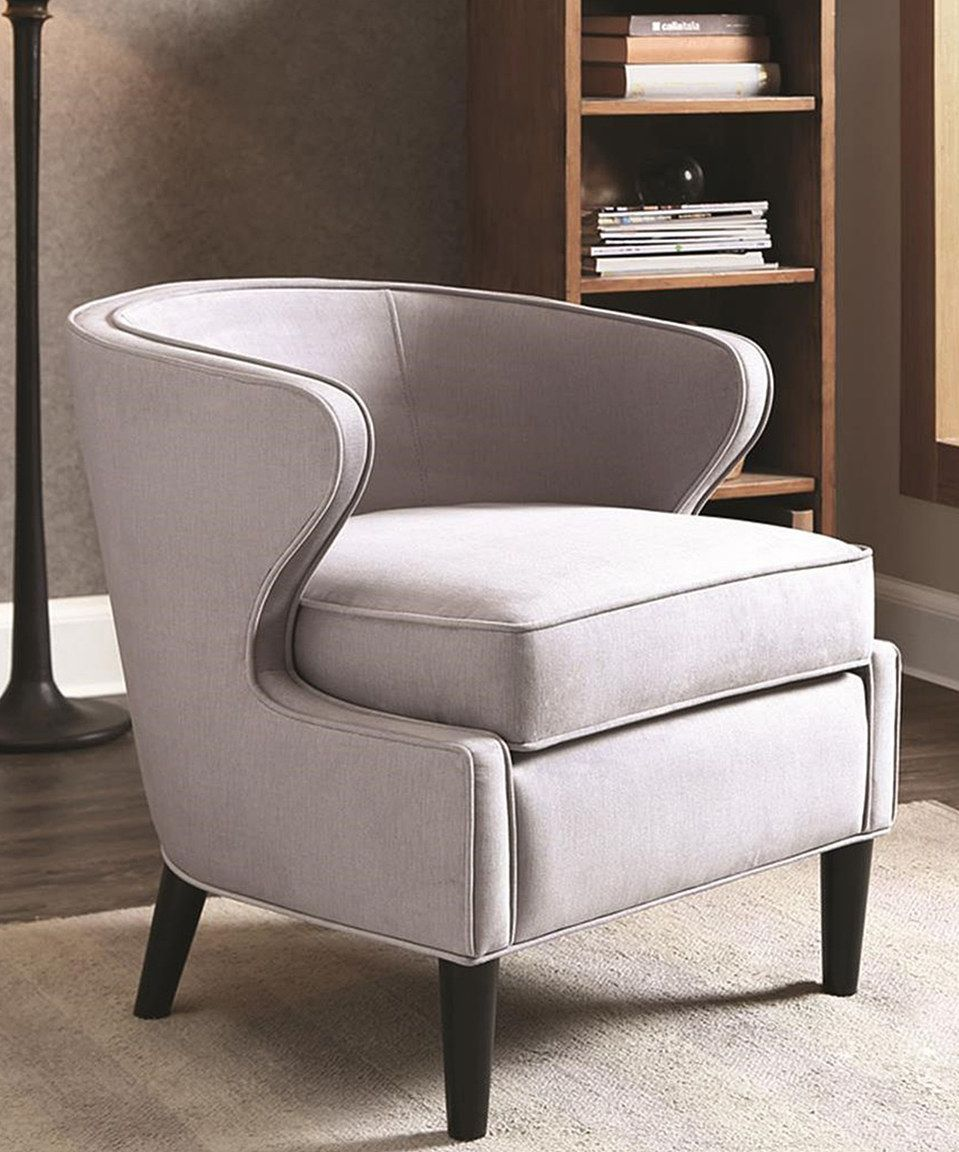 Lucca Rust Extended Arm Chair: Gray Lucca Barrel Chair By JLA Home #zulily #zulilyfinds