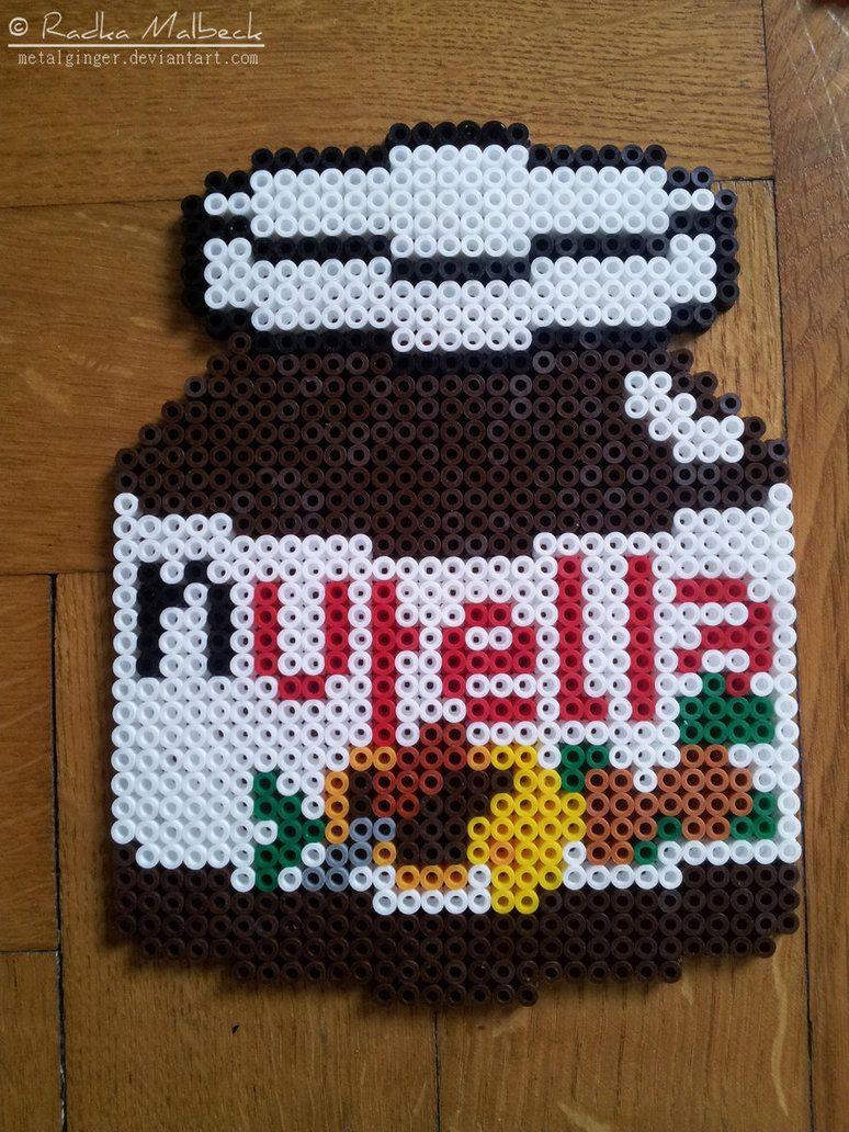 Nutella Jar Hama Perler Beads By Metalginger Perle Perle A