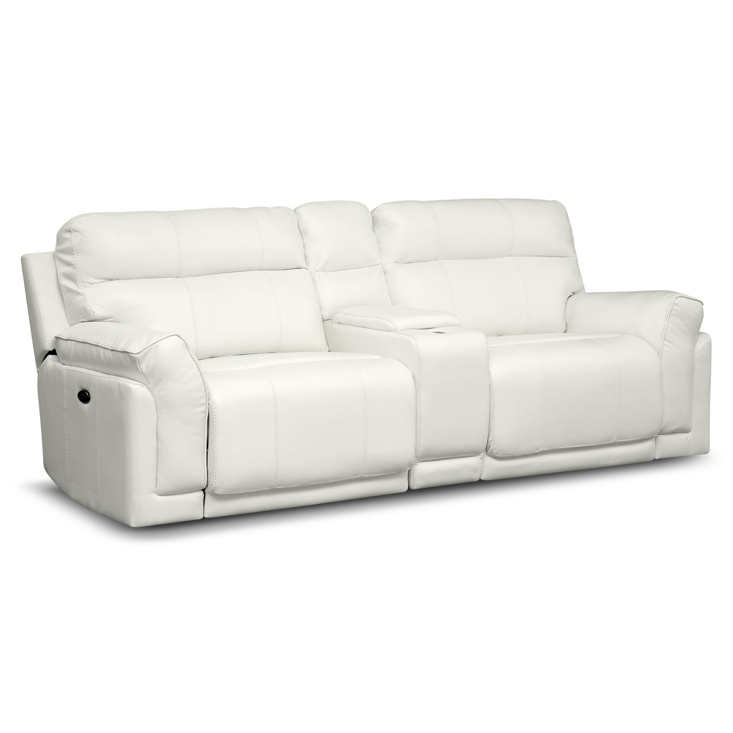 Cool White Leather Power Reclining Sofa Magnificent White