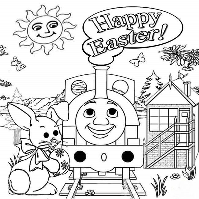 easter holiday coloring pages | Holiday | Pinterest