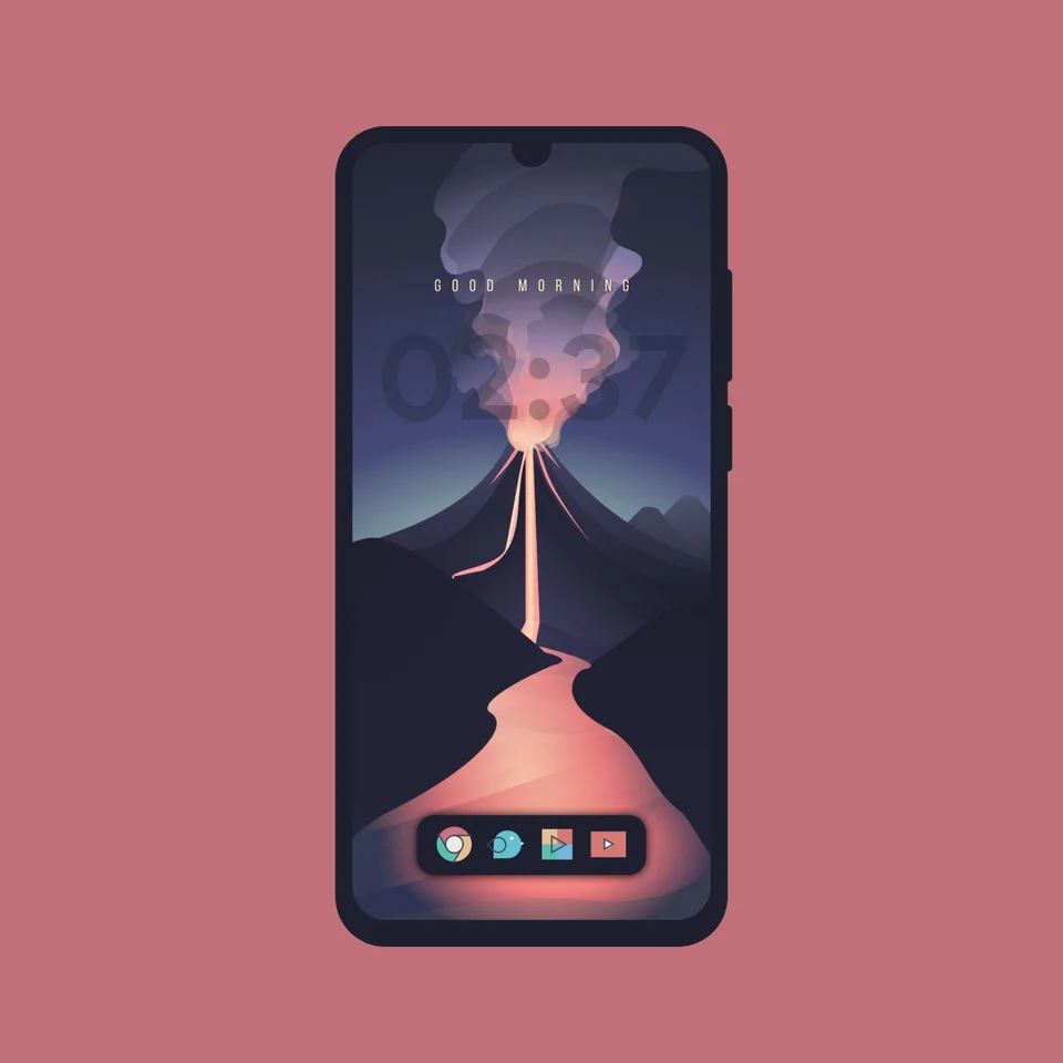 [Theme] Volcano androidthemes in 2020 Android design