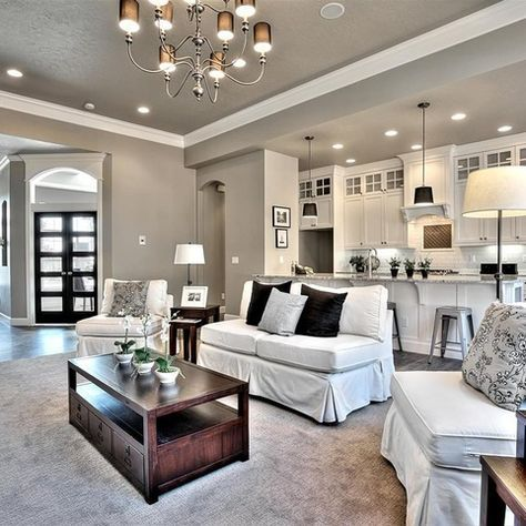 Sherwin williams requisite gray design ideas pictures - Gray paint living room ...