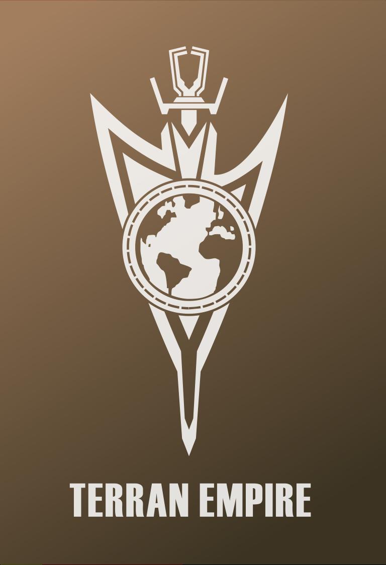 Star Trek Logo Flat Design Terran Empire Mirror Universe 2255 Discovery Star Trek Logo Flat Design Star Trek Posters Star Trek Artwork Star Trek Images