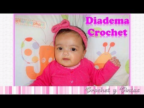 Diadema – cintillo con lazo tejido a crochet (ganchillo) - YouTube