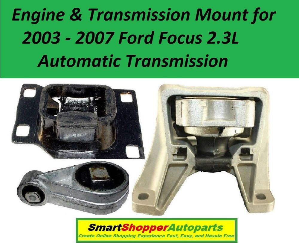 Engine Mount /& Trans Mount Set 3PCS for 2008-2011 Ford Focus 2.0L