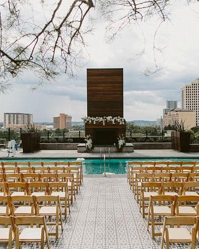 Hotel Van Zandt Austin Texas Wedding Rooftop Wedding Rooftop Venue