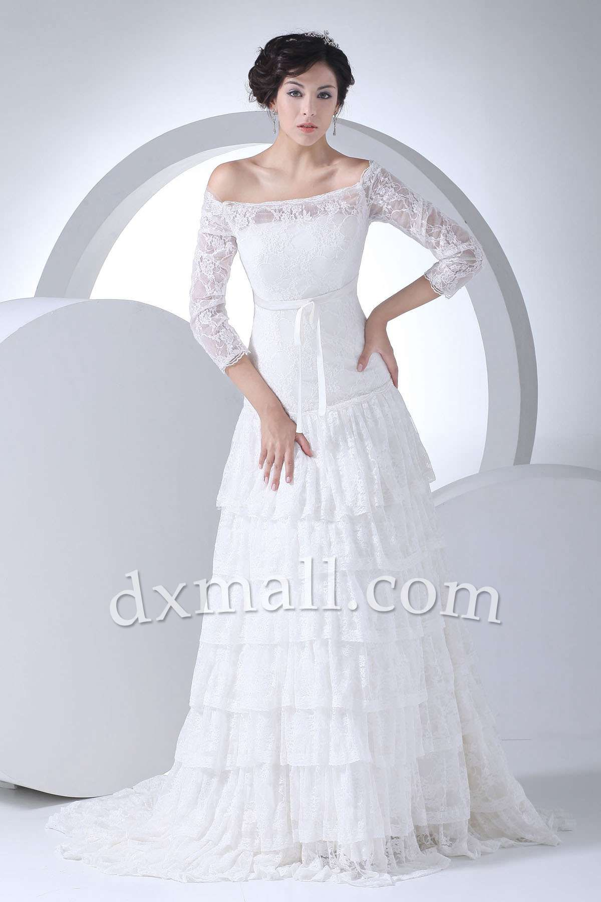 Short maternity wedding dresses  Aline Wedding Dresses Off The Shoulder Court Train Chiffon Satin