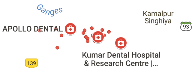 Map of best dental clinic in patna
