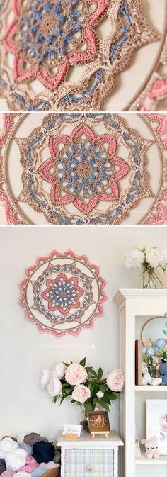 15+ Crochet Dream Catcher Patterns and Tutorials #mandala