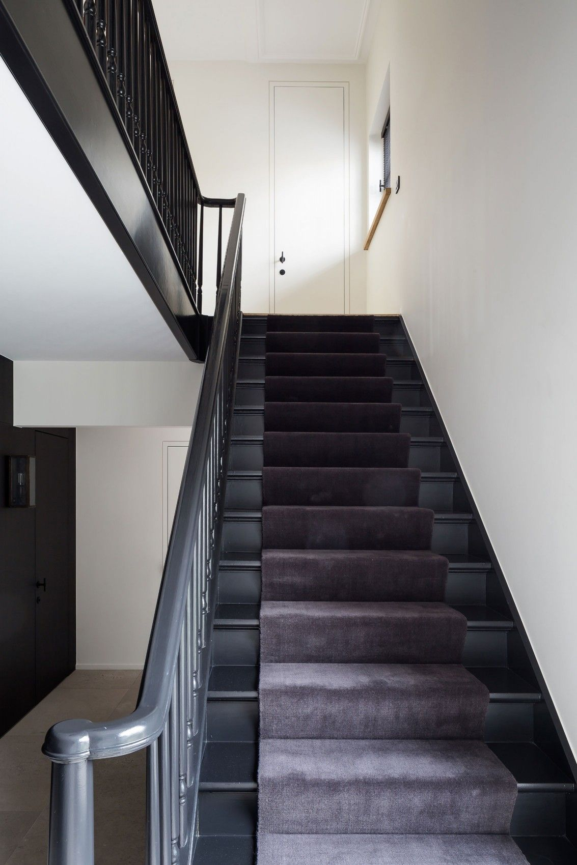 An Elegant Contemporary Home In Earthy Tones In Belgium. Black Painted  StairsHome ...