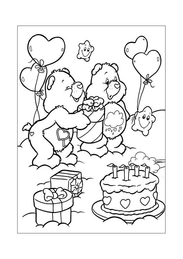 carebear coloring pages disney coloring pages