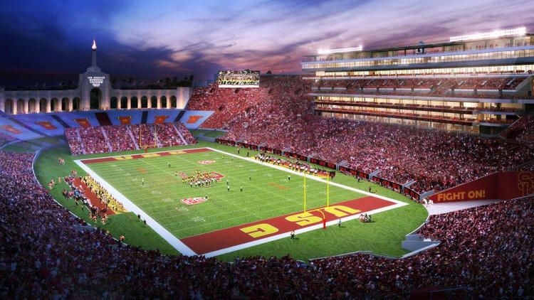 Usc Proposes 270 Million In Coliseum Upgrades Sports Arena Usc Los Angeles