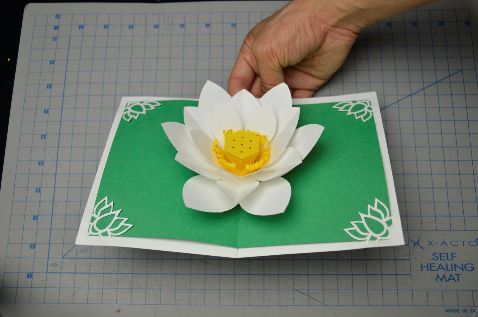 Mother S Day Lotus Flower Pop Up Card Tutorial Creative Pop Up Cards Card Tutorial Pop Up Cards Pop Up Box Cards