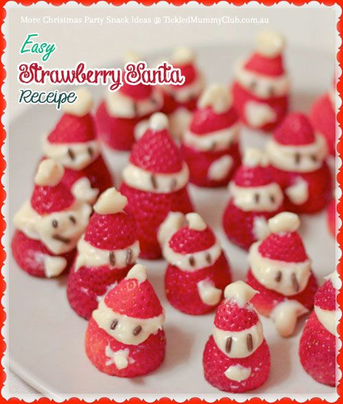 Easy Strawberry Santa Recipe Arent These Cute