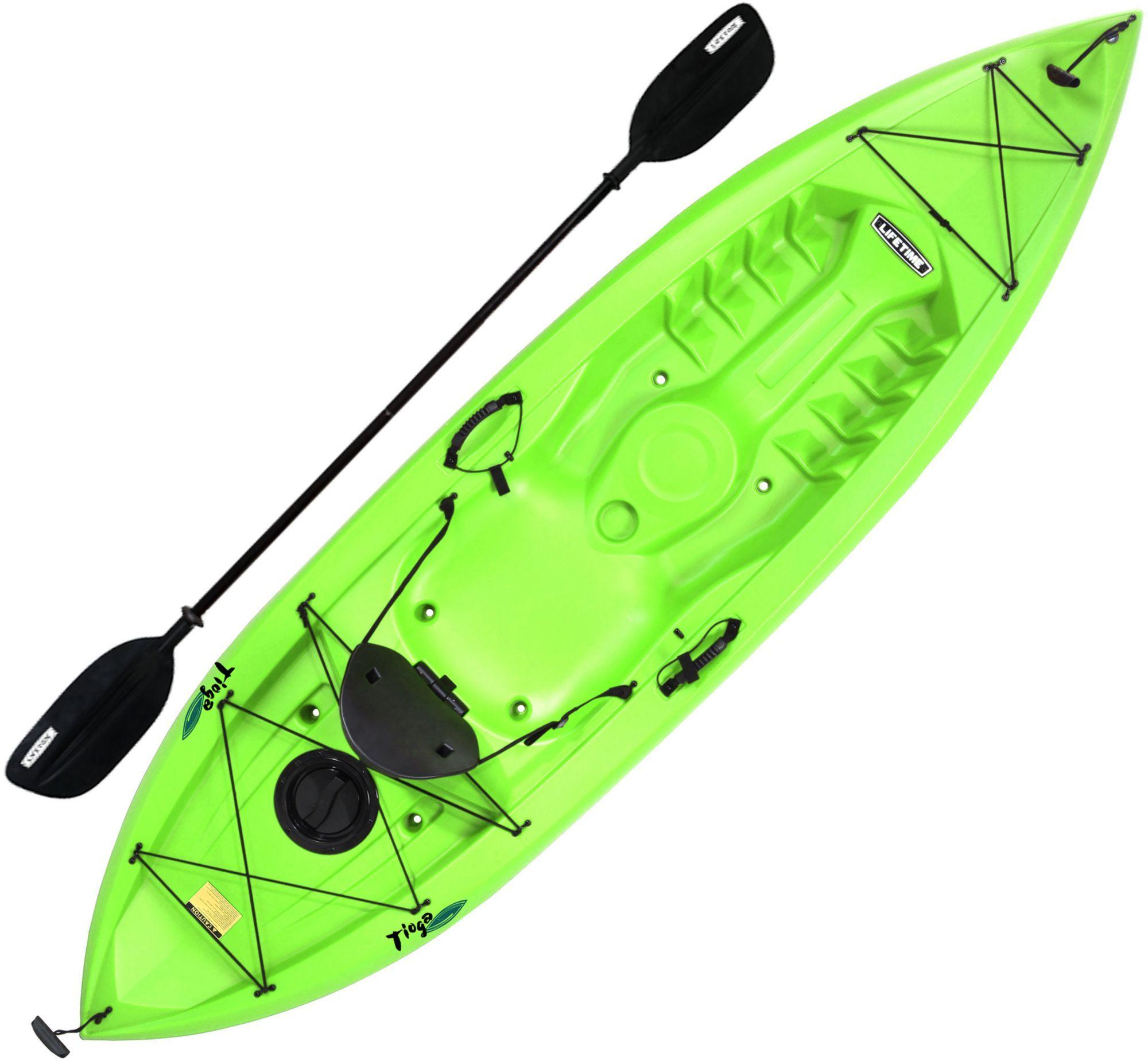 Lifetime Tioga 120 Kayak with Paddle, Green Kayaking
